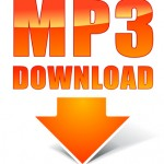 Vector orange mp3 icon